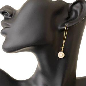 NWT beaded pendant drop earrings, minimalist
